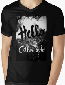 Hello From The Other Side  Mens V-Neck T-Shirt