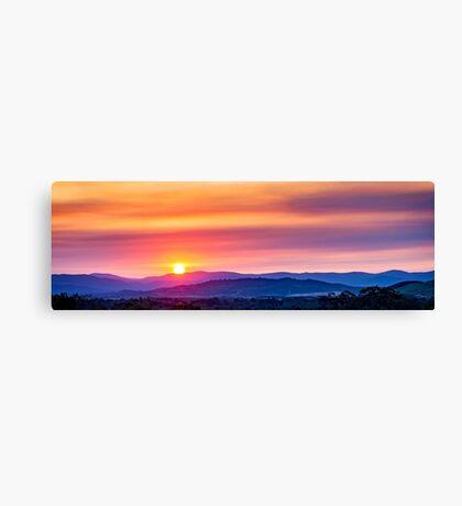 Sun scorching the distant horizon Canvas Print