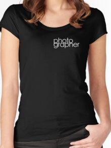 Photographer T Shirt White Women's Fitted Scoop T-Shirt