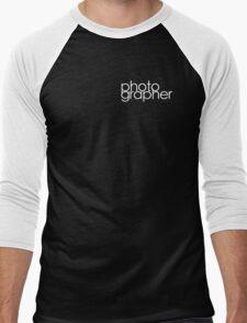 Photographer T Shirt White Men's Baseball ¾ T-Shirt