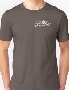 Photographer T Shirt White Unisex T-Shirt