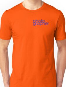 Photographer T Shirt Blue Unisex T-Shirt