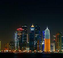 Doha skyline #2 by Roberto Pagani