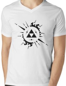 The legend of zelda Triforce, Black Mens V-Neck T-Shirt
