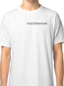 Photographer T Shirt Black Classic T-Shirt