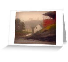 Red House, Monhegan Island Maine Greeting Card