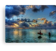 Boys being boys Canvas Print