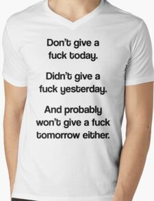 Just Don't Give A Fuck Mens V-Neck T-Shirt