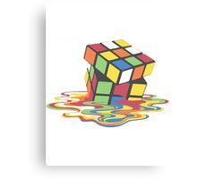 Rubix Cube - Melting Canvas Print