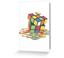 Rubix Cube - Melting Greeting Card