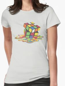 Rubix Cube - Melting Womens Fitted T-Shirt