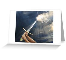 Sword of the Spirit by Tamer ElSharouni Greeting Card