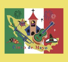 Cinco de Mayo with Mexican Flag Baby Tee