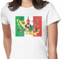 Cinco de Mayo with Mexican Flag Womens Fitted T-Shirt