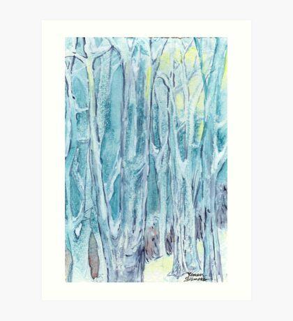 Winter Woodland, Winter Wonderland Art Print