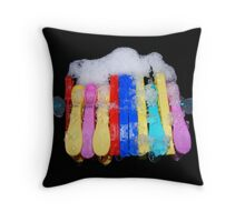 No washing  on the line today  Throw Pillow