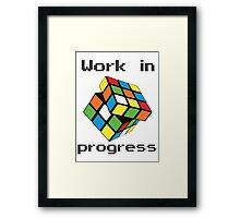 Rubix Cube - Work in progress Framed Print
