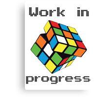 Rubix Cube - Work in progress Canvas Print
