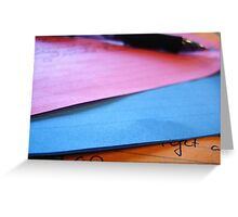 Writing in Color Greeting Card