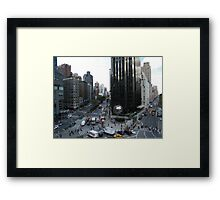 Columbus Circle, Central Park West, Broadway, New York City Framed Print