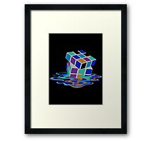 Rubix Cube - Melting. Framed Print