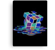 Rubix Cube - Melting. Canvas Print