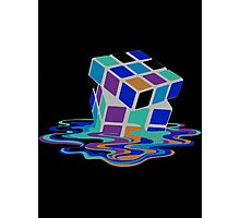 Rubix Cube - Melting. Photographic Print