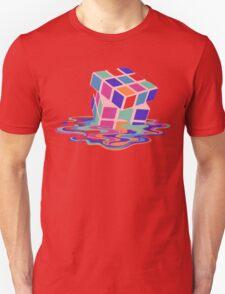 Rubix Cube - Melting. Unisex T-Shirt