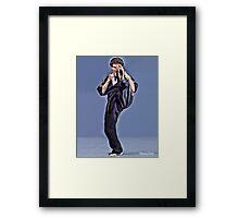 Joe Corley Kick! Framed Print