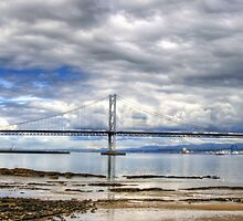 Road Bridge over the River Forth by Tom Gomez