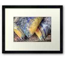 Fish Market: Turbot Fish at Montagu Beach in Nassau, The Bahamas Framed Print