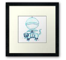 Feline Pilot Framed Print