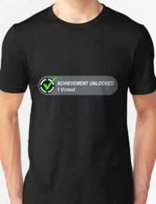 Achievement Unlocked I Voted T-Shirt