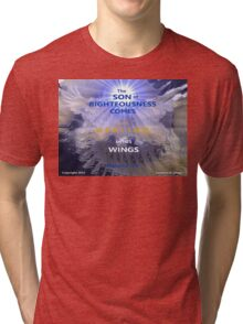 WHOLENESS COMES IN HIS LOVE Tri-blend T-Shirt