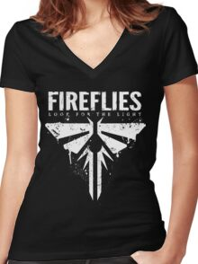 FIREFLIES Women's Fitted V-Neck T-Shirt