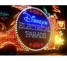 Welcome to the Main Street Electrical Parade! Photographic Print