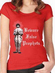 Beware False Prophets (Dark Colors) Women's Fitted Scoop T-Shirt