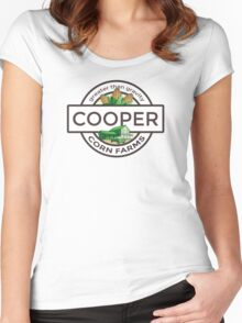 Cooper Corn Farms - greater than gravity Women's Fitted Scoop T-Shirt
