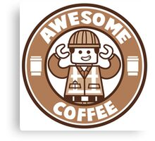 Awesome Coffee Canvas Print