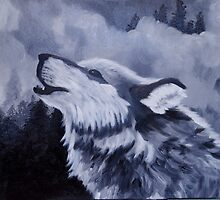 Howling at the Moon by Chuck Coniglio