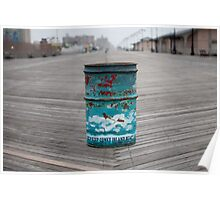 Coney Island Trash Can Poster