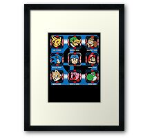 Mega Smash Framed Print