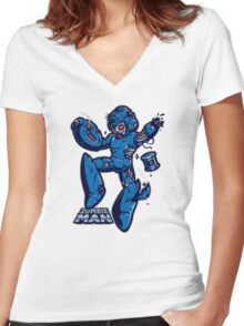 Zombie Man Women's Fitted V-Neck T-Shirt