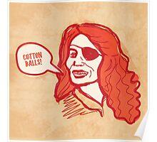 Cotton Balls! Poster