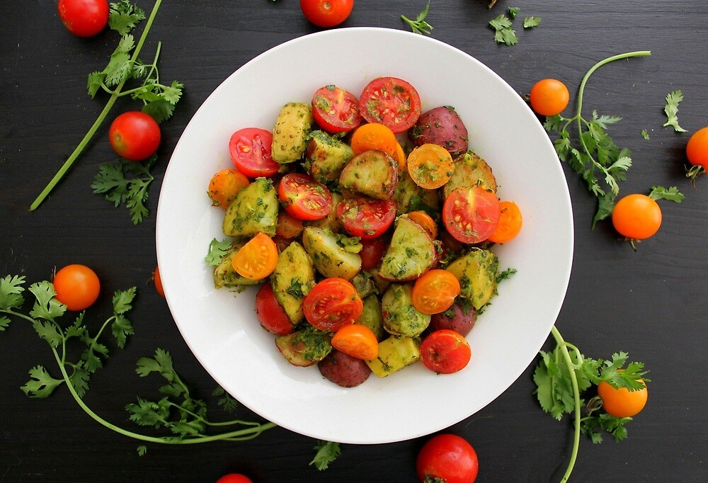 Chimichurri Potato & Tomato Salad by Kimberly Morales