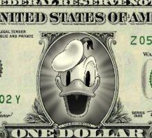 Donald Dollar Sticker