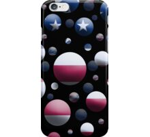 Blue Balls with American Flags iPhone Case/Skin