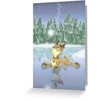 Tiny Reindeer Greeting Card