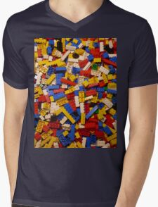 Lots of Lego Mens V-Neck T-Shirt
