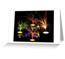 Tropical palms Greeting Card